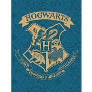 BLANKET PLAID Harry Potter HOGWARTS CREST BLUE GREEN 170x130cm ORIGINAL Official WARNER BROS