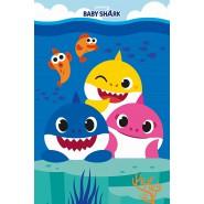 BLANKET PLAID BABY SHARK 150x100cm ORIGINAL Official