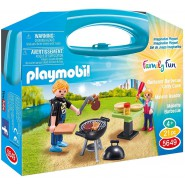 Playset Carry Case BBQ Barbecue FAMILY FUN PLAYMOBIL 5649