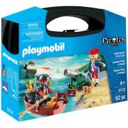 Playset Carry Case PIRATES 2 figure con barca e cannone 62 Pezzi PLAYMOBIL 9102