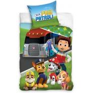 PAW PATROL Bed Set 5 Characters PRISE TRUCK Duvet Cover 140x200cm + 70x90cm Cotton ORIGINAL Official Nickelodeon