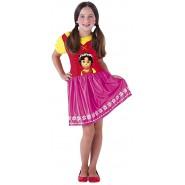 COSTUME Carnevale HEIDI Girl Size SMALL 3-4 YEARS Originale RUBIE'S
