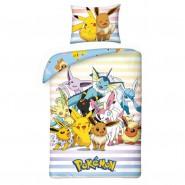 Bed Set POKEMON Pikachu and EEVVEELUTIONS Eevee Evolutions DUVET COVER 140x200 Cotton ORIGINAL