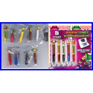 SUPER MARIO LUIGI BOWSER Set Completo 5 PENNE TOUCH Pen per NINTENDO DS etc. !!