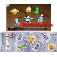 CRAZY FROG La RANA PAZZA Set 6 Figure 3D Plastica CON LACCETTO Cellulare Zaino Borsa SUPER OFFERTA