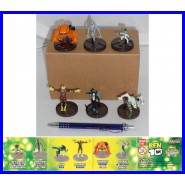 SET 6 Figure BEN 10 Mini Collection SERIE 1 BANDAI XLR8 Heatblast Materia Grigia