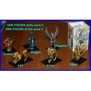 RARE Figure LION LEO Gold SAINT SEIYA HAPPINET Trading Figures SERIE 1 Nuova