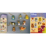 TOMY Set 8 Figure WINNIE POOH Animal Wear PET EDITION Serie Mini Winnies NUOVE !