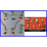 SIMPSONS Raro SET 6 Figures HALLOWEEN DANGLERS Tomy Bart Homer Marge Lisa etc