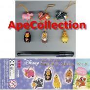 RARO Set 6 Figures WINNIE POOH Animal Wear PART 9 Serie TOMY Mini Winnies