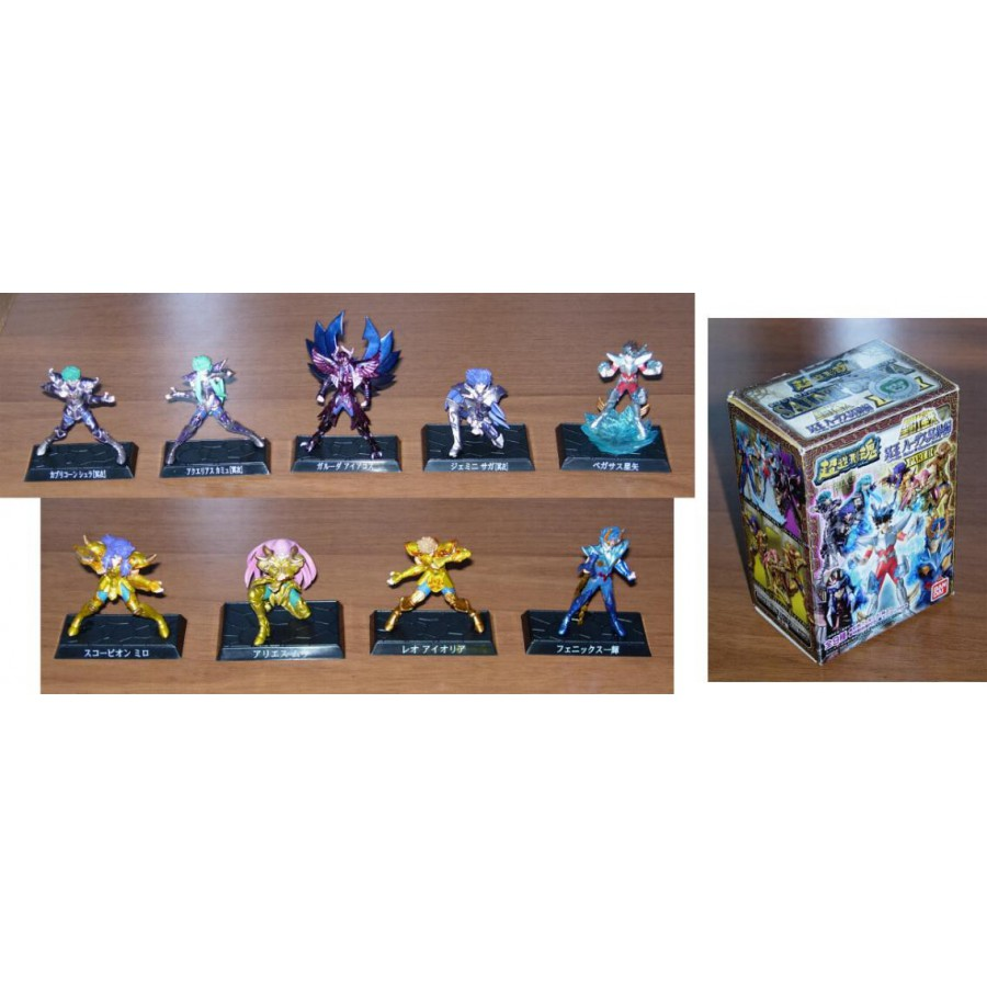 RARO SET 9 Figure SAINT SEIYA PART 2 Bandai Trading Figures BRONZE GOLD HADES