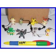 SET 8 Figures POKEMON JAKS Danglers TOMY Reshiram Zerkrom Pikachu