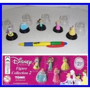 Complete SET 5 Figures DISNEY PRINCESS CAPSULE PART 2 Original TOMY