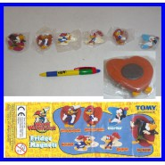 SET 6 Figure CALAMITE Magnets WOODY WOODPECKER PICCHIARELLO Tomy NUOVE NEW RARE