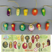 SET 9 Figure TITTI TWEETY VEGETABLES WEAR Mini Winnies Style