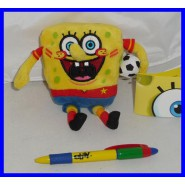 Stupendo Peluche SPONGEBOB 15cm SPORT Version Originale NEW Spugna SQUARE PANTS