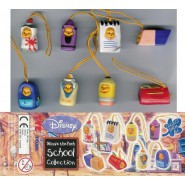TOMY Set 8 Figures WINNIE POOH SCHOOL EDITION Mini Winnies Peek A Pooh