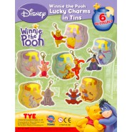 SET 6 Figure WINNIE POOH LUCKY CHARMS TINS Scatoletta METALLO Eeyore Tiger Pimpy