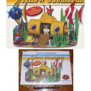 Kinder DIORAMA Tedesco Set SPONGEBOB Yellow Submarine RARO Limitato 1200 !