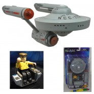Modello ENTERPRISE NCC-1701 25cm STAR TREK TOS Figura KIRK Diamond MINIMATES
