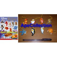 TOMY MINI WINNIES Set 8 Figure WINNIE POOH OCEAN Serie Laccetti Danglers PEEK