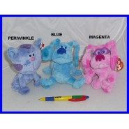 BLUE'S CLUES Set 3 Peluche BLUE WIDGET WALDEN Nuovi ORIGINALI TY Nickelodeon