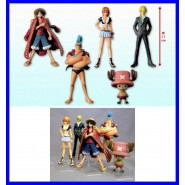 ONE PIECE Raro SET 5 Figure FRANKY RUFY SANJI NAMI CHOPPER Memories 10cm