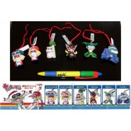 Set 6 Figures YATTAMAN Danglers  JANET KANCHAN Yujin JAPAN Gashapon