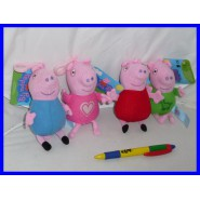 SET 4 Plushies PEPPA PIG GEORGE KEYRINGs