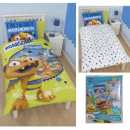 BED SET Reversible HENRY HUGGLEMONSTER 135x200 Duvet Cover DISNEY
