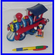 Gadget Topolino LOCOMOTIVE TRAIN Uncle Scrooge RARE DISNEY PLAYSET Locomotive