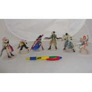 Stupendo Set 6 FIGURE 10cm FINAL FANTASY con BASE Nuove