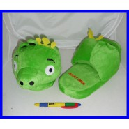 ANGRY BIRDS AMAZING Slippers KING PIG Green ADULT SIZE