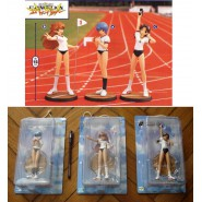 EVANGELION Set 3 Figures REI ASUKA HIKARI GYM COURSE Sega Prize JAPAN