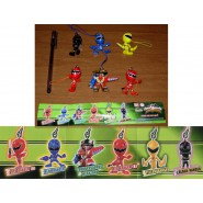 SET 6 Figure POWER RANGERS SWING Dangler BANDAI Gashapon SUPER SENTAI