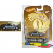 007 CASINO ROYALE Modellino Auto ASTON MARTIN DBS Scala 1:64 Hot Wheels MATTEL