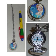 FROZEN Disney MINI Pocket WATCH Princess ELSA Pendant