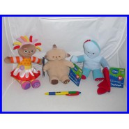 HASBRO Set 3 Plush IN THE NIGHT GARDEN Makka Pakka Iggle Piggle Upsy Daisy