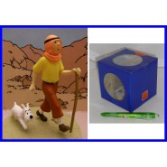 TINTIN and MILOU in the DESERT Figure Diorama ORIGINAL HERGE Boxed Tin Tin