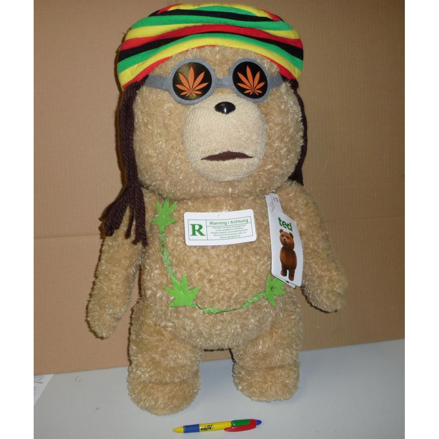 film ted orso enorme peluche 60cm rasta giamaicano parlante volgare originale apecollection. Black Bedroom Furniture Sets. Home Design Ideas