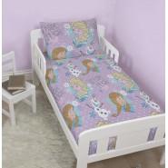 Disney Frozen Crystal Anna Elsa Olaf Toddler Junior 4 in 1 Duvet Bedding Bundle