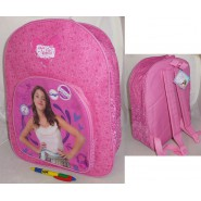 VIOLETTA nice BACKPACK Pink 40x32cm Original DISNEY