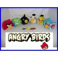 ANGRY BIRDS Set 6 Peluche ORIGINALI UFFICIALI Rovio Uccello Rosso Maiale etc. !!