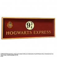 HARRY POTTER Insegna POSTER 3D Stazione HOGWARTS EXPRESS Binario 9 ¾ Ufficiale NOBLE COLLECTION