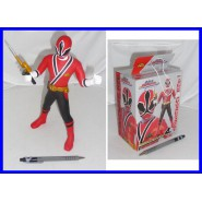 Power Rangers FIGURA 25cm RED SAMURAI Banpresto JAPAN SUPER SENTAI Nuova
