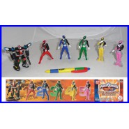 SET 6 Figure 10cm POWER RANGERS Maxi COLLECTION COMMANDO Gashapon BANDAI