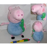 PEPPA PIG Plush 26cm GEORGE with Dinosaur ORIGINAL TY
