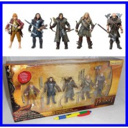 THE HOBBIT Pack BOX 5 FIGURE Action 10cm Originale VIVID Bilbo Thorin Fili Kili