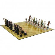 Lord Of The Rings CHESS SET 32 Figures + Board OFFICIAL LOTR Hobbit