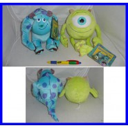 MONSTERS INC Coppia Peluche MIKE e SULLEY 20cm Originali University and CO
